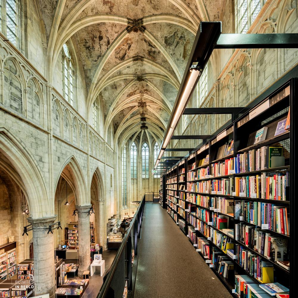 Bookstore-Dominicanen-ασυνήθιστα βιβλιοπωλεία